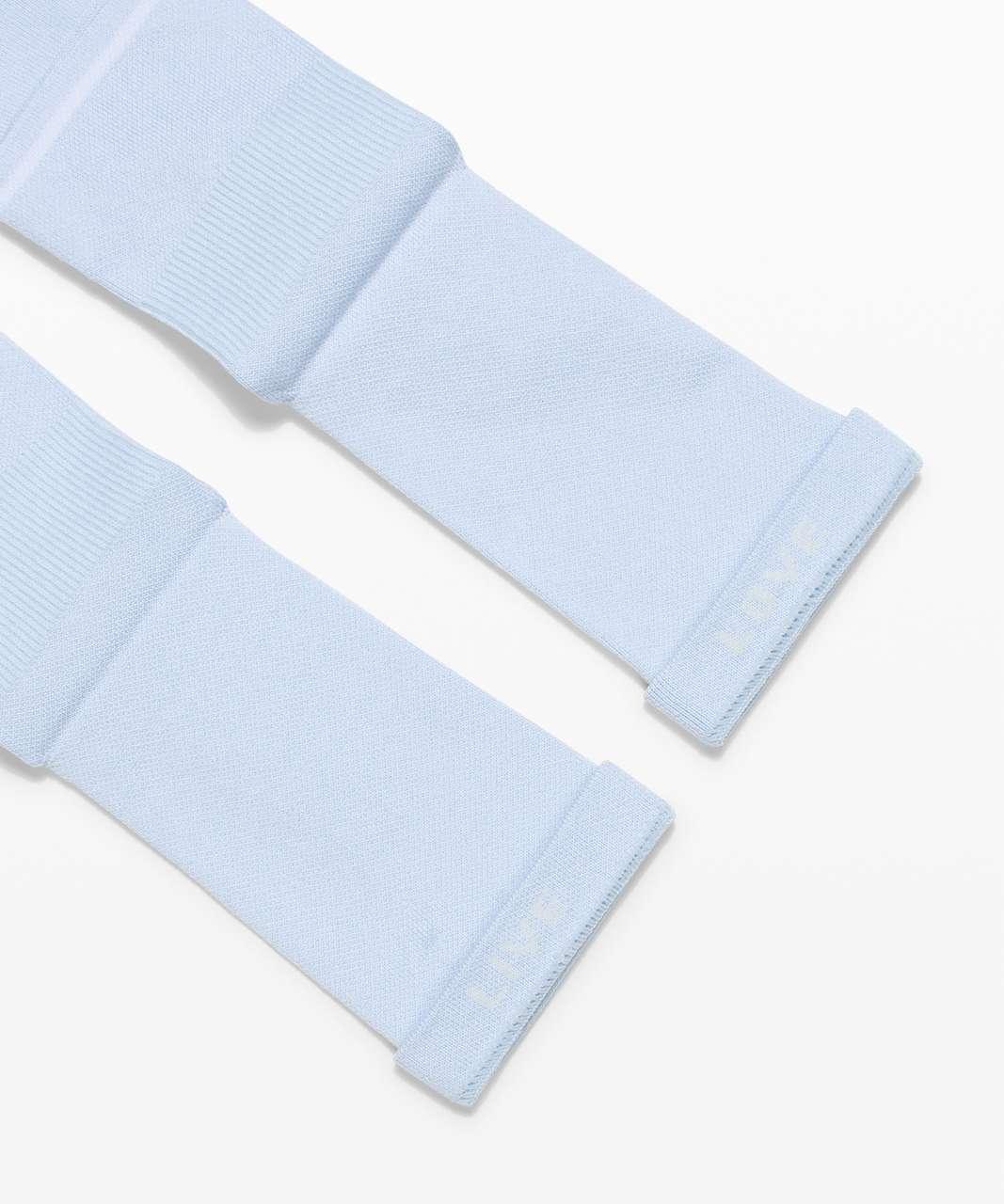 Lululemon Power Stride Crew Sock *2 Pack - White / Blue Linen