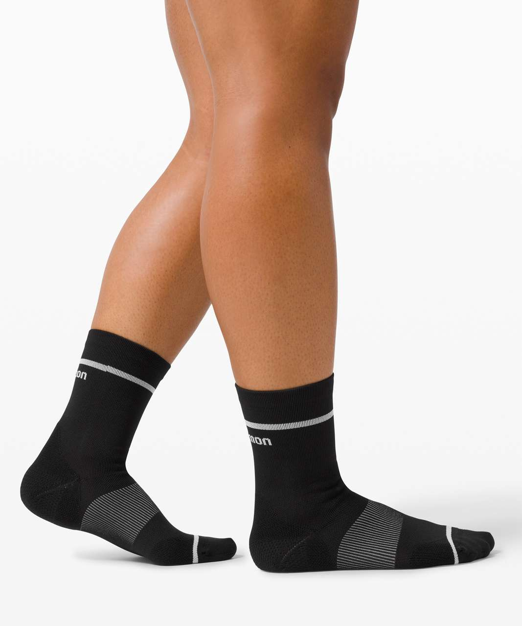 Lululemon Power Stride Crew Sock *2 Pack - White / Black