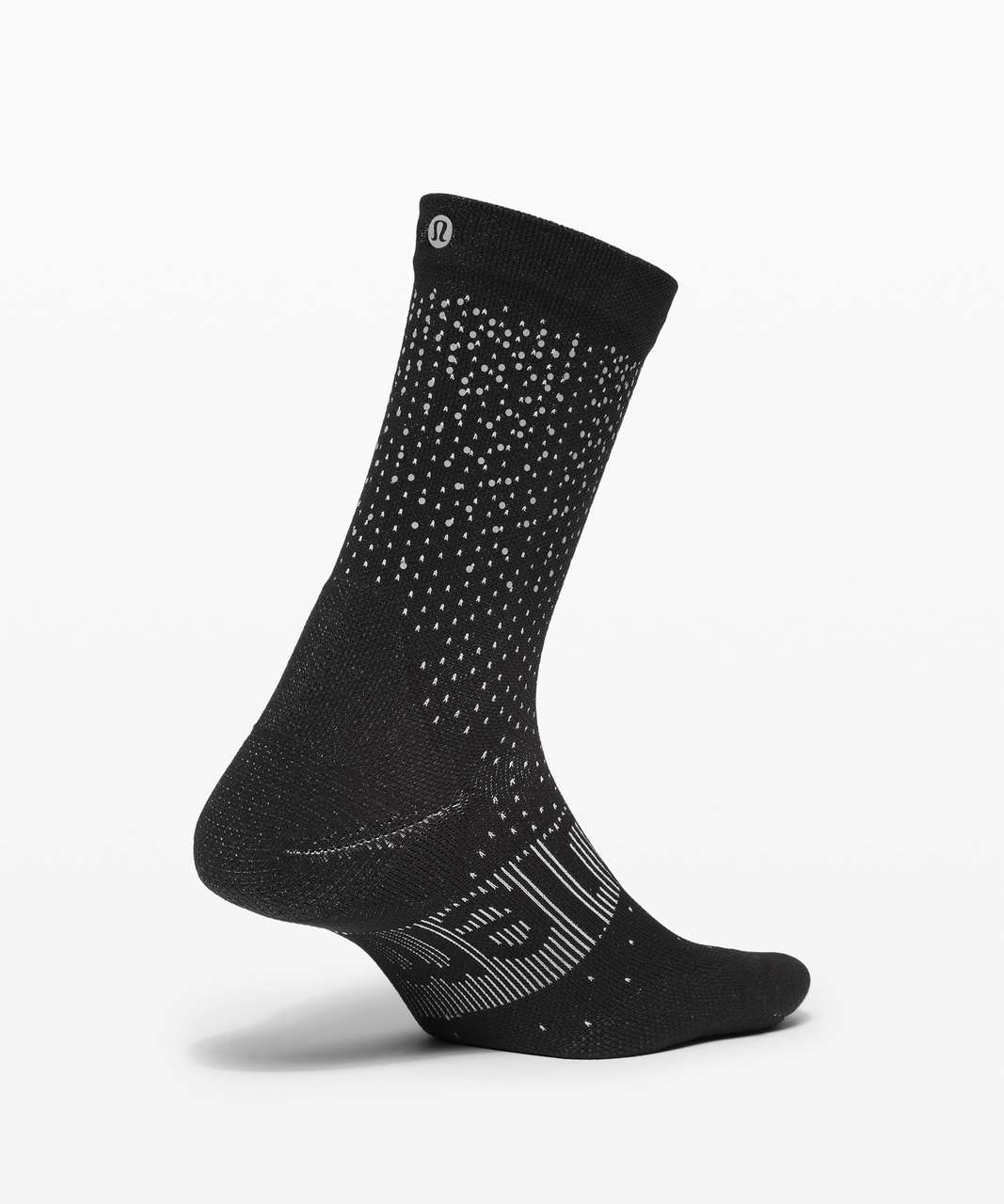 Lululemon Power Stride Crew Sock *Reflective - Black / Vapor