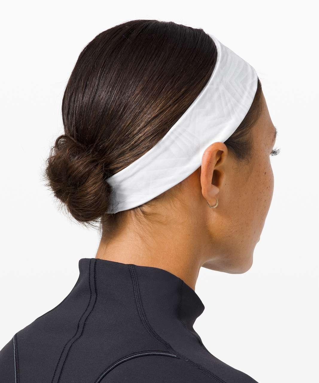 Lululemon Fly Away Tamer Headband II *Luxtreme - Concertina White Multi