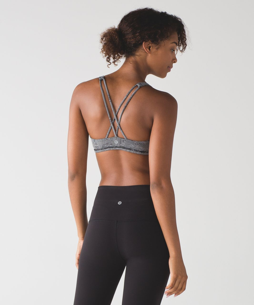 Lululemon Free To Be Bra - Maze Jacquard White Black