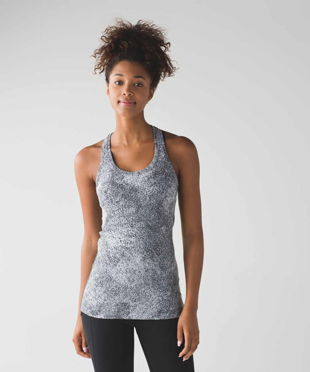 Lululemon Cool Racerback II - Luon Spray Jacquard White Black