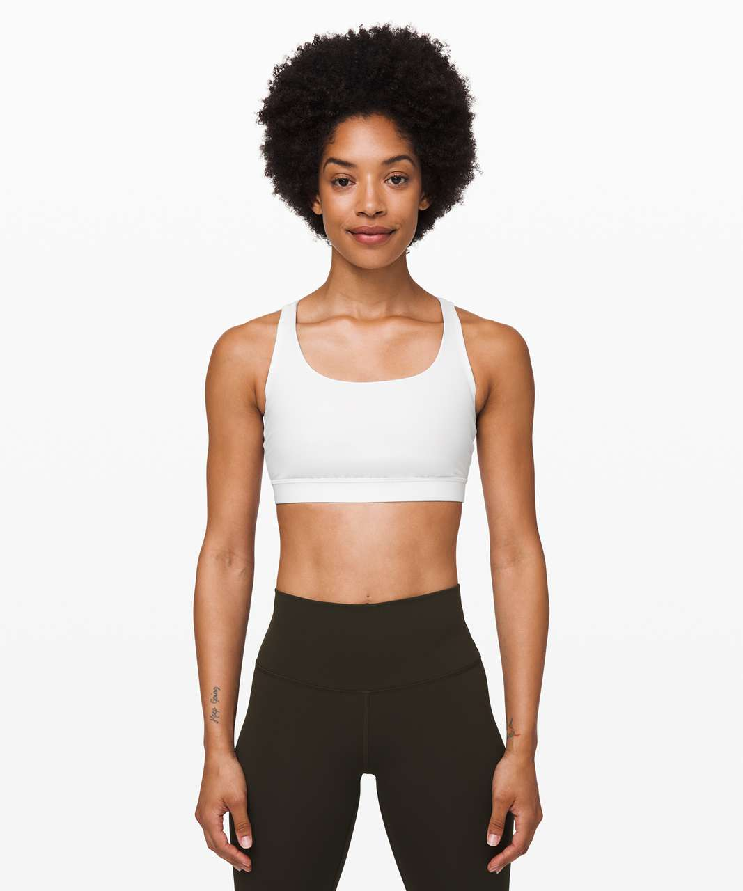 Lululemon Energy Bra *Medium Support, B–D Cup - White