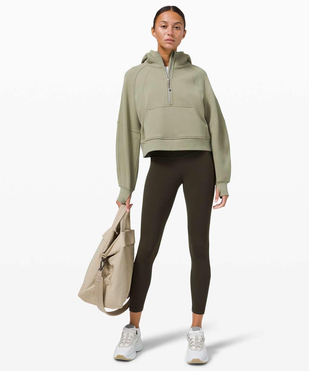 Lululemon Scuba Oversized 1/2 Zip Hoodie - Rosemary Green