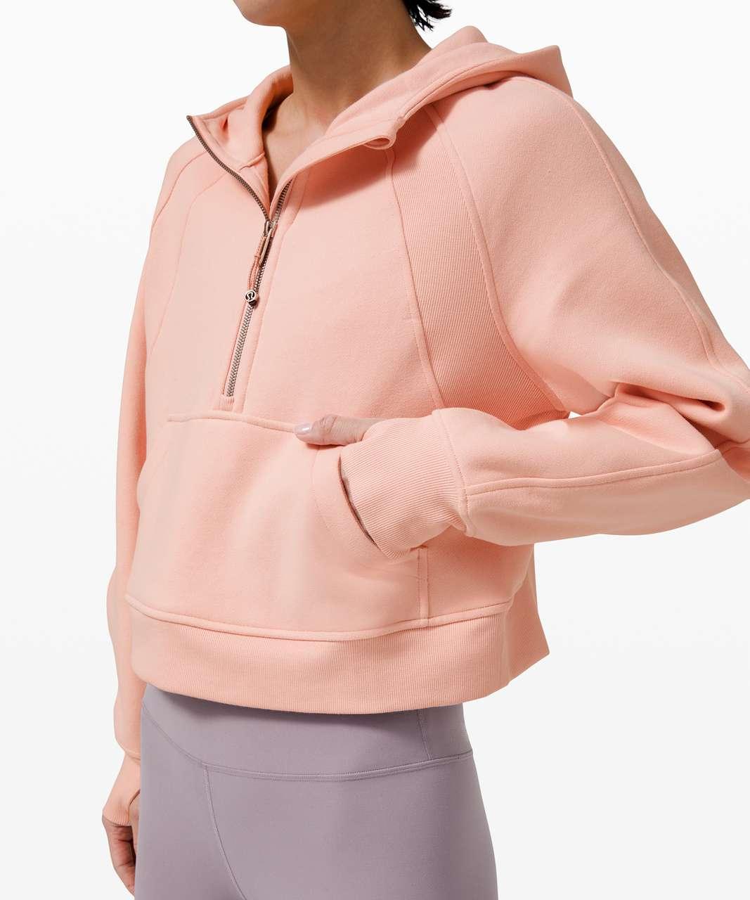 Lululemon Scuba Oversized 1/2 Zip Hoodie - Pink Mist