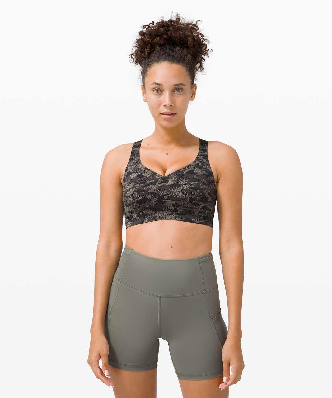 Lululemon Enlite Bra Weave *High Support, A–E Cup - Collage Camo Mini Black Multi