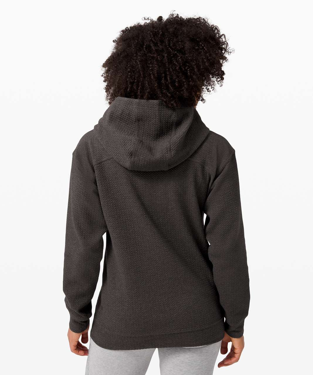 Lululemon All Yours Hoodie *Bubble Dot - Heathered Black / Black