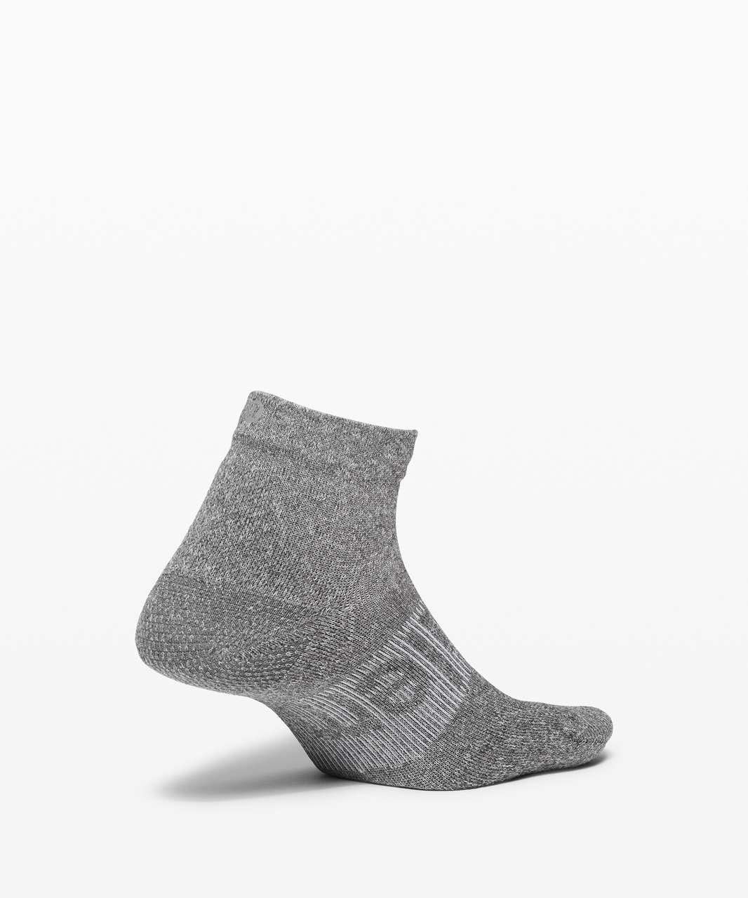 Lululemon Power Stride Ankle Sock - Heathered Graphite Grey