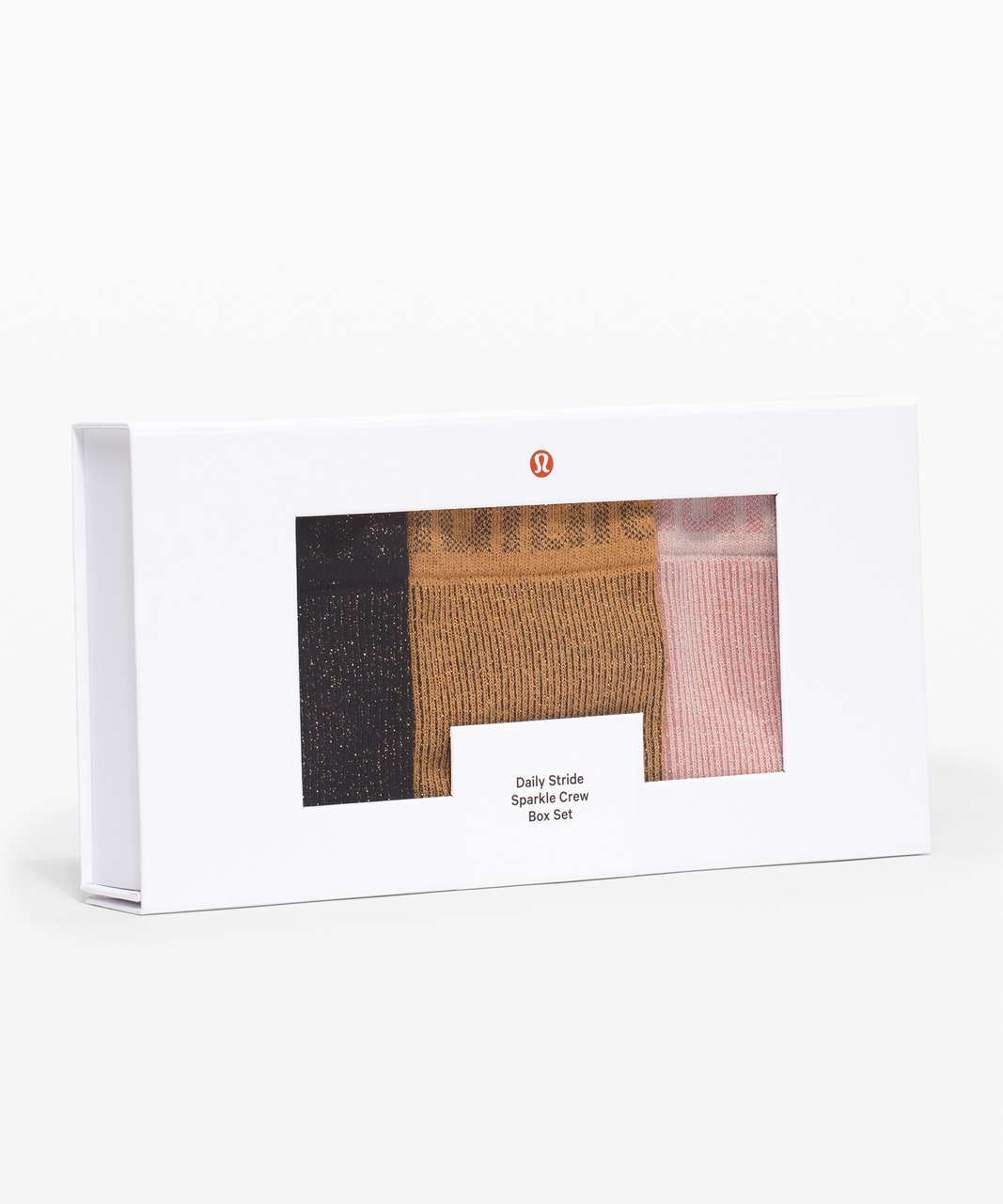 Lululemon Daily Stride Sparkle Crew *Boxed Set - Black / Gold Buff / Feather Pink