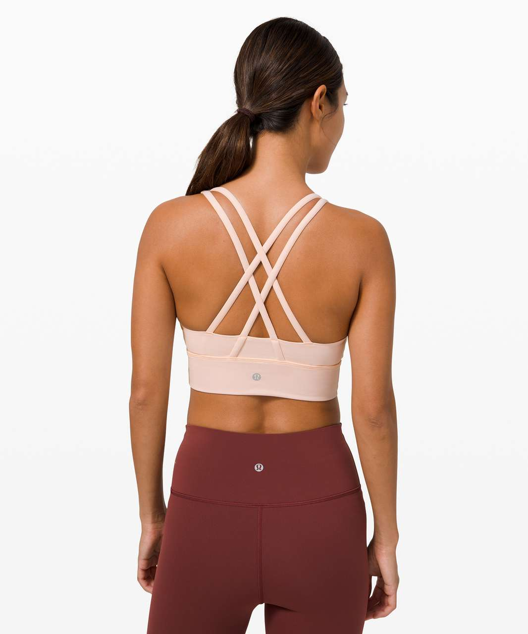 Lululemon Energy Bra Long Line *Medium Support, B–D Cup - Feather Pink