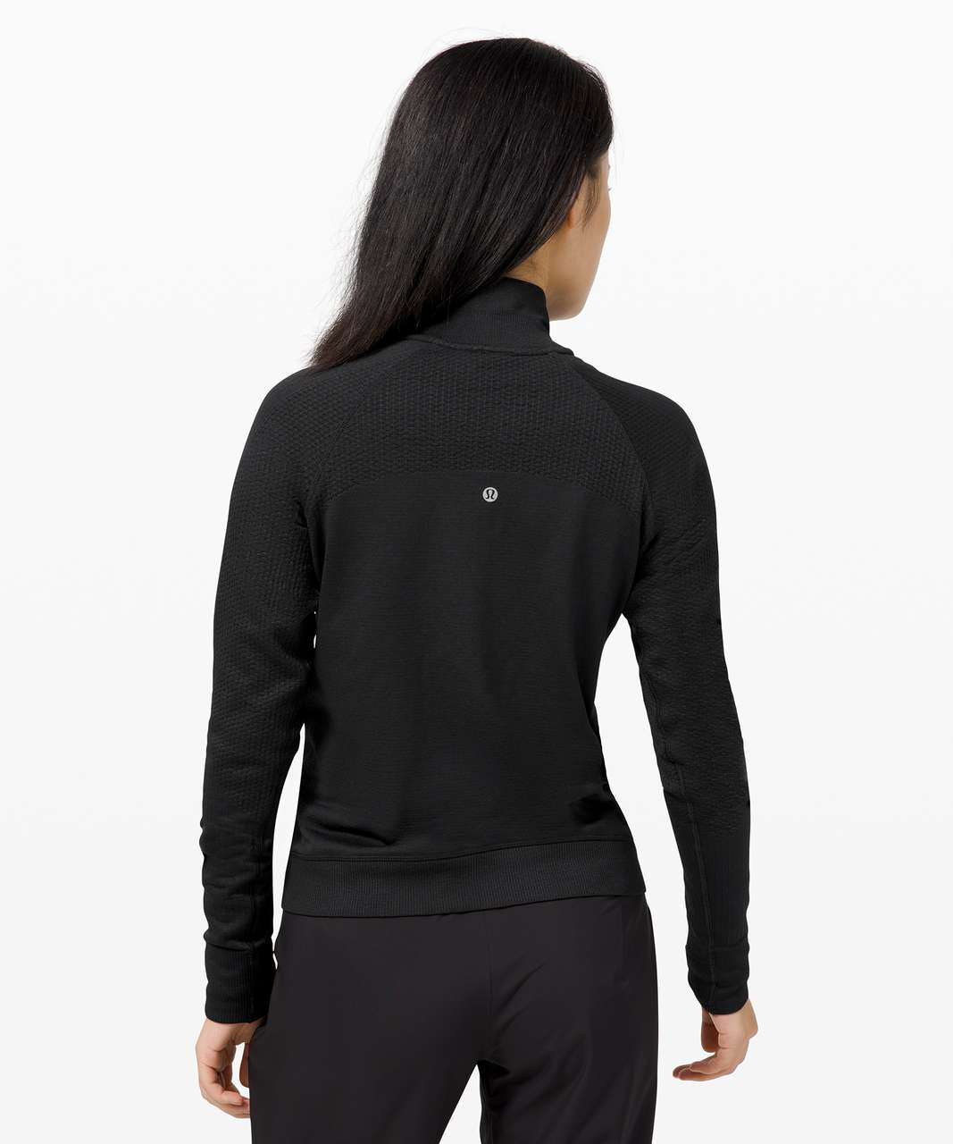Lululemon Engineered Warmth Half Zip - Black / Black