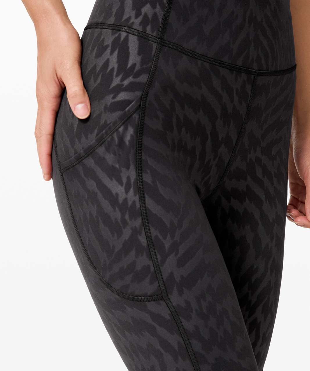"Lululemon Invigorate High-Rise Short 10"" - Voltage Mini Emboss Black"