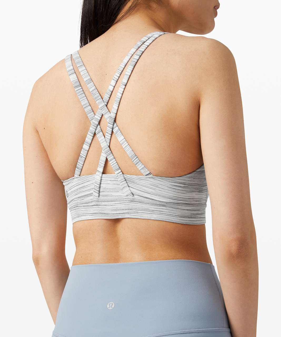 Lululemon Energy Bra *Medium Support, B-D Cup - Space Dye Camo White Silver Spoon