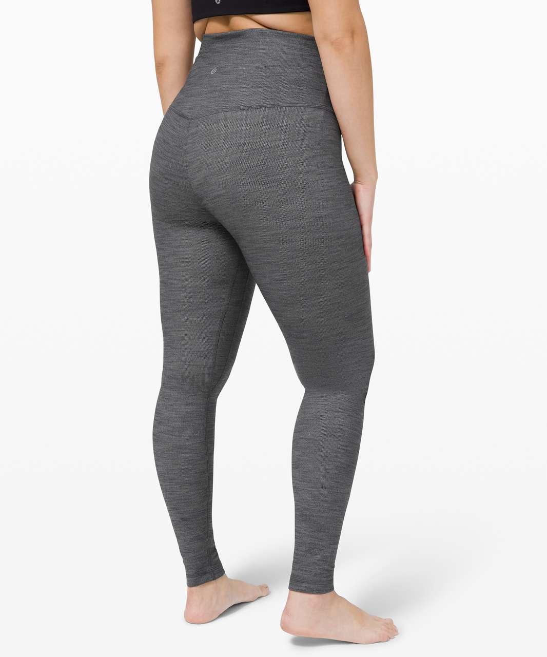 "Lululemon Align Pant Super High-Rise 28"" - Mini Heathered Herringbone Heathered Black White / Black"
