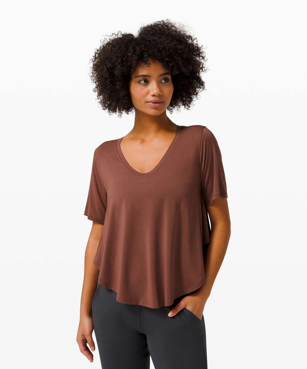 Lululemon Up for Down Time Short Sleeve - Ancient Copper