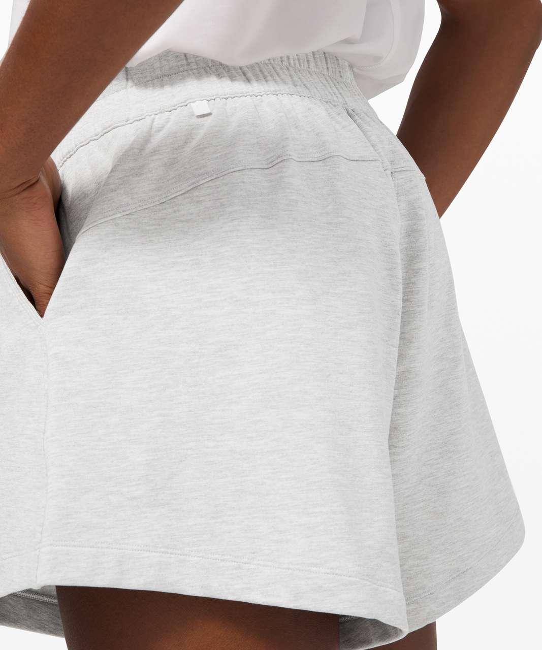 "Lululemon Mellow In High-Rise Short 4.5"" - Heathered Core Ultra Light Grey"