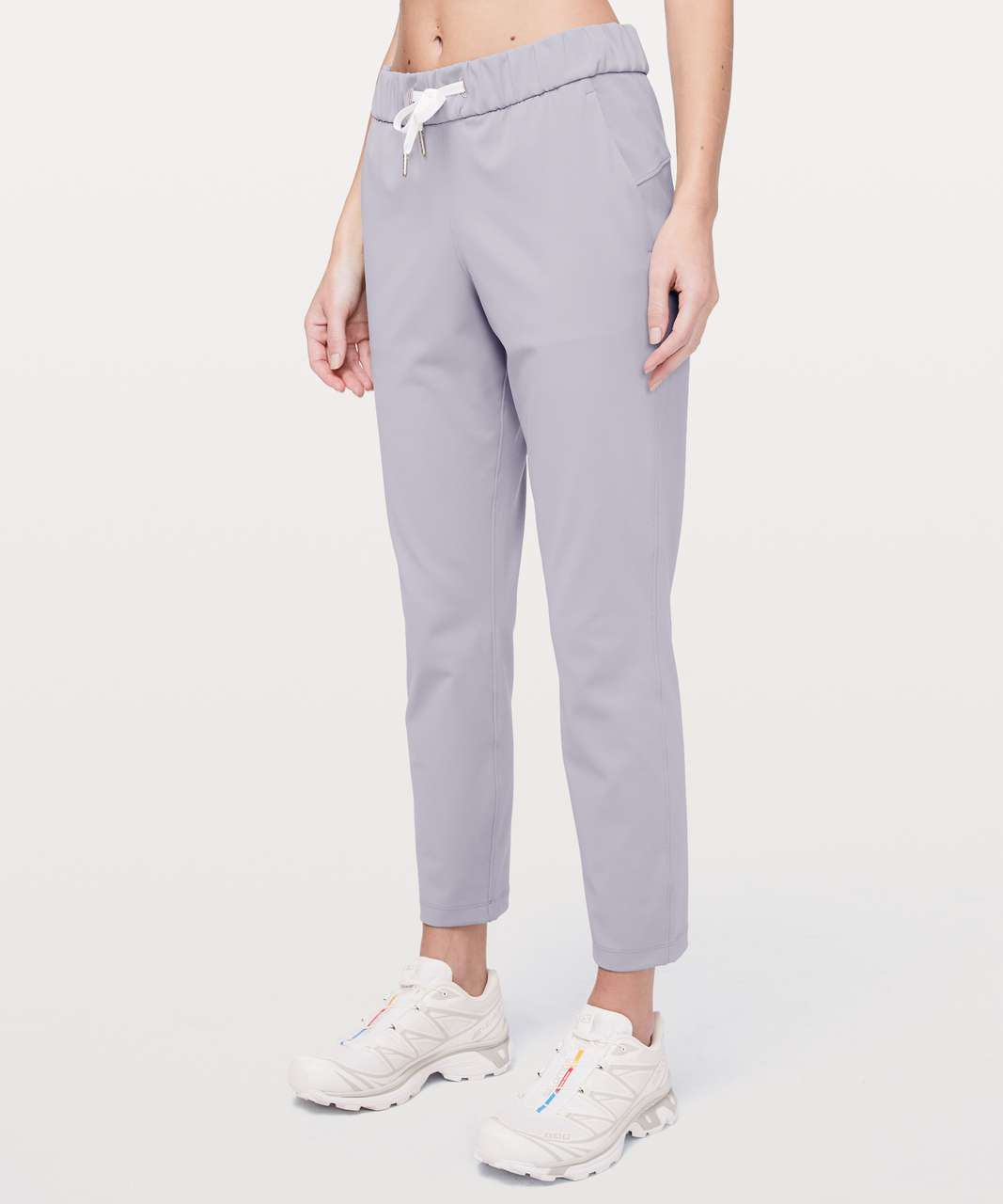 "Lululemon On the Fly 7/8 Pant 27"" - Silverscreen"
