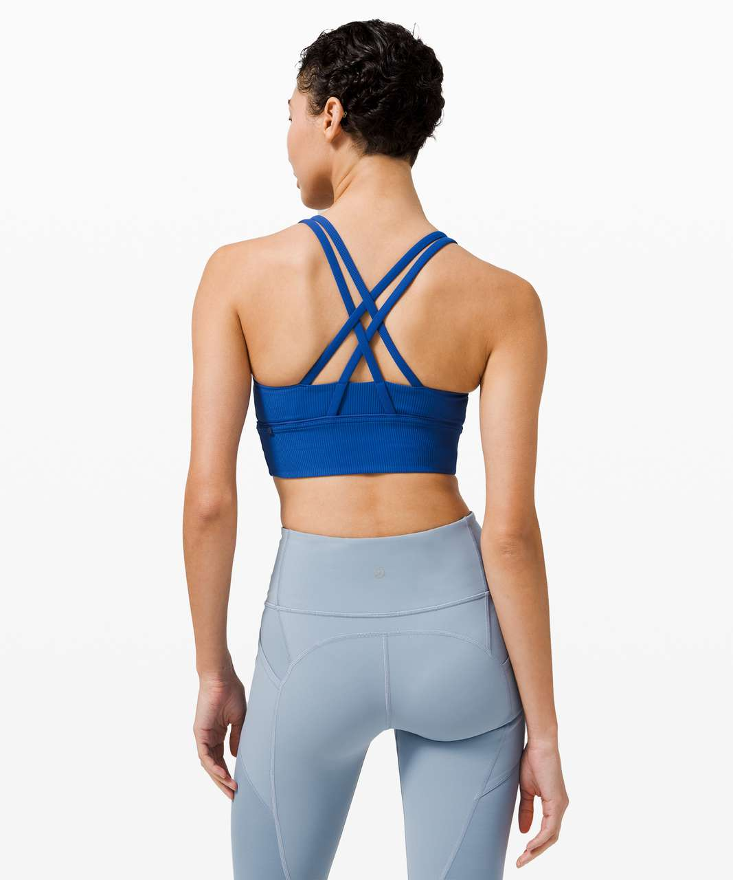 Lululemon Energy Bra Long Line Ribbed *Medium Support, B–D Cup - Regatta Blue