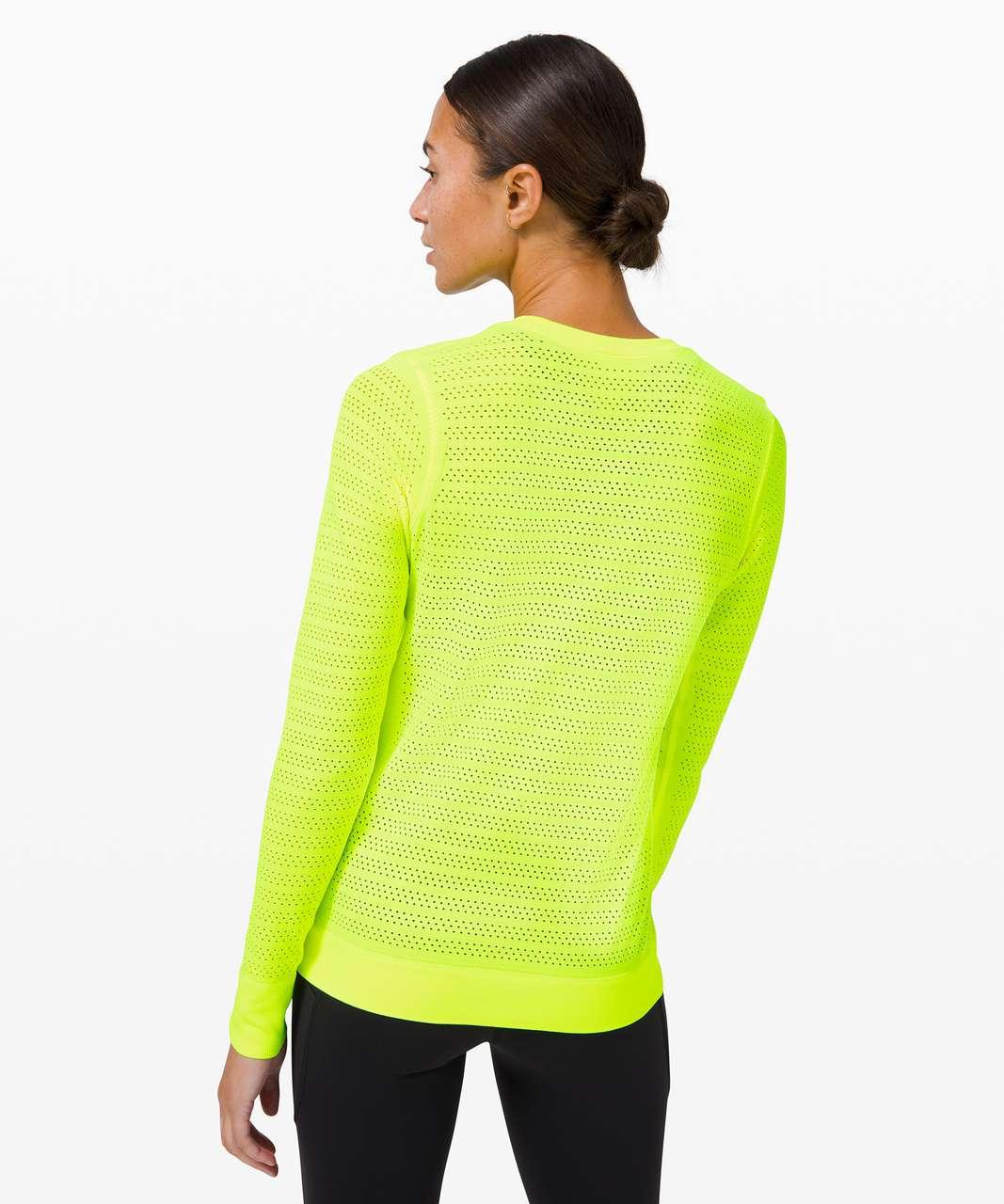 Lululemon Swiftly Breathe Long Sleeve Squad - Yellow Highlight / Yellow Highlight