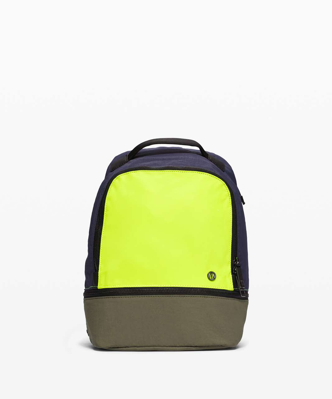 Lululemon City Adventurer Backpack Mini *10L - Army Green / Highlight Yellow / Cadet Blue
