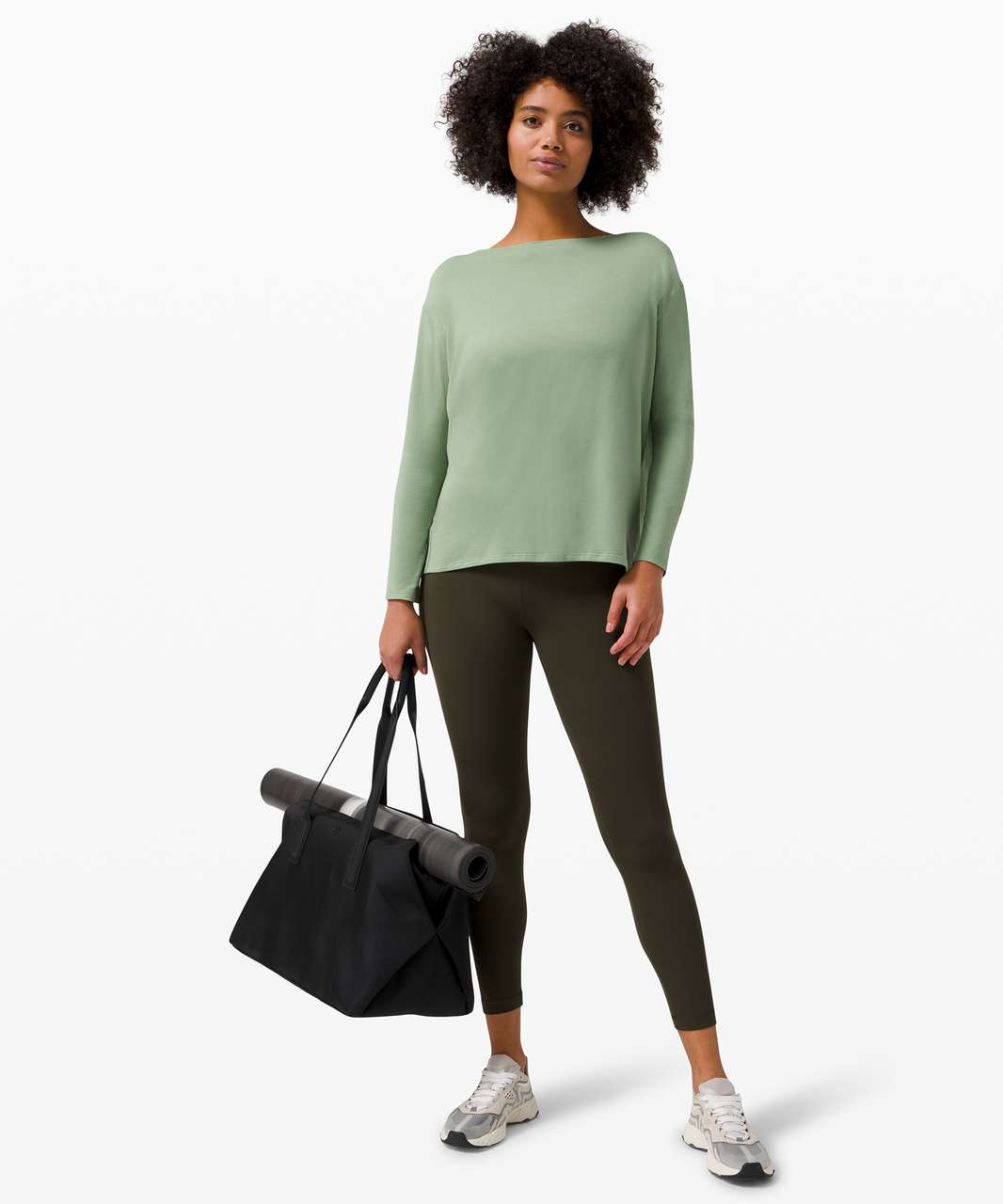 Lululemon Back In Action Long Sleeve - Willow Green