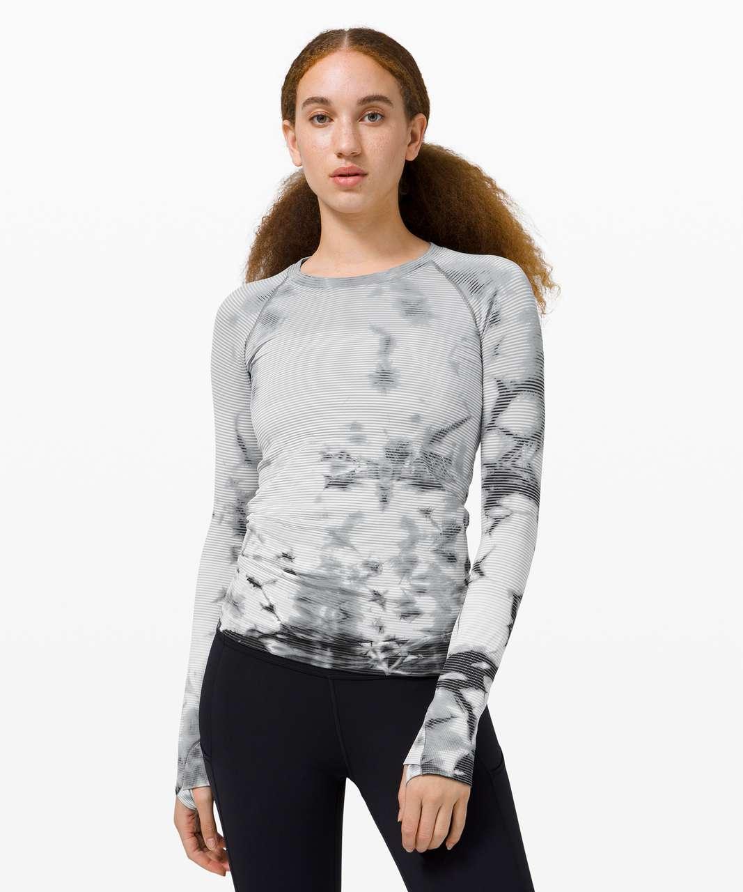 Lululemon Swiftly Tech Long Sleeve 2.0 *MultiDye - Shibori Stripe Graphite Grey
