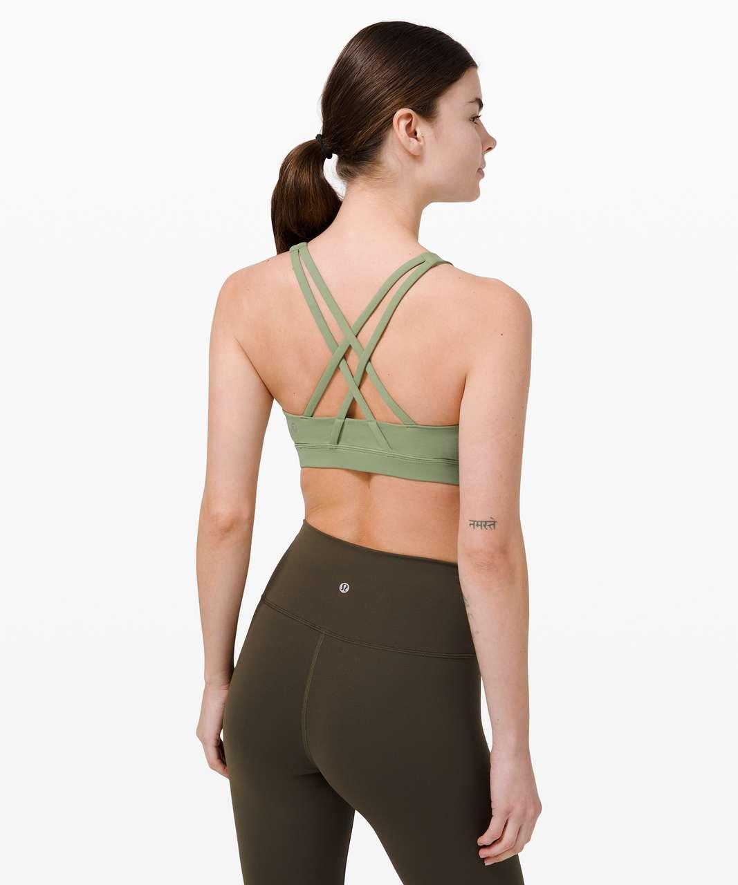 Lululemon Energy Bra High Neck *Medium Support, B–D Cup - Willow Green