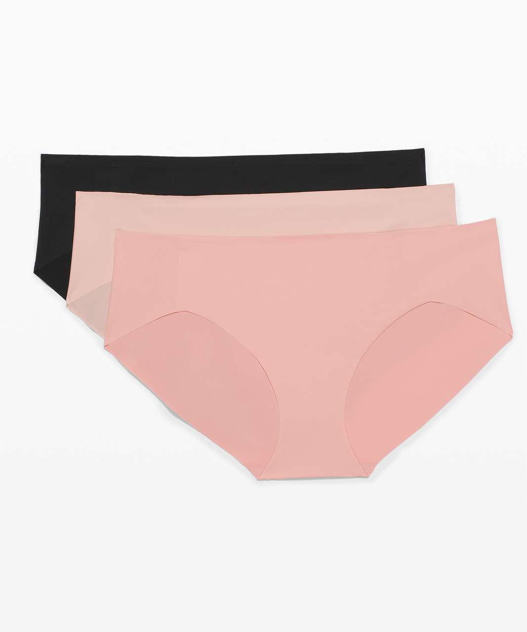 Lululemon Smooth Seamless Hipster 3 Pack - Black / Misty Shell / Pink Puff