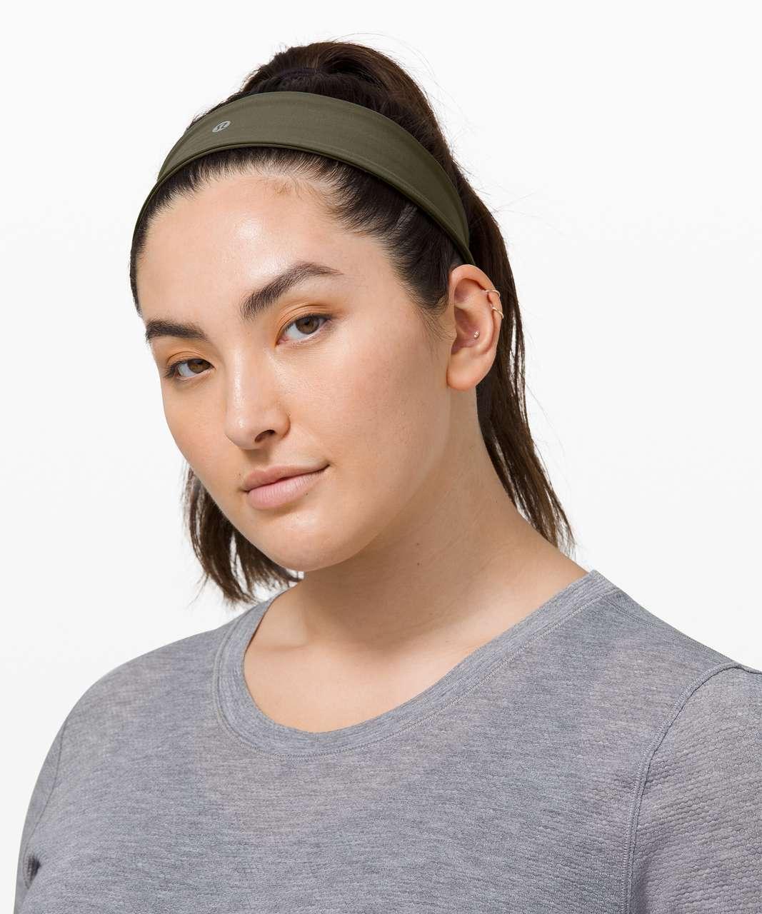 Lululemon Fly Away Tamer Headband II *Luxtreme - Army Green
