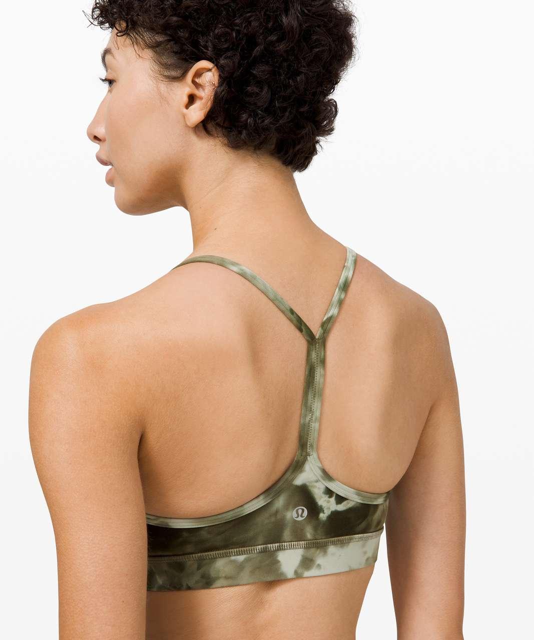 Lululemon Flow Y Bra Nulu *Light Support, B/C Cup - Diamond Dye Light Sage Army Green Dark Olive