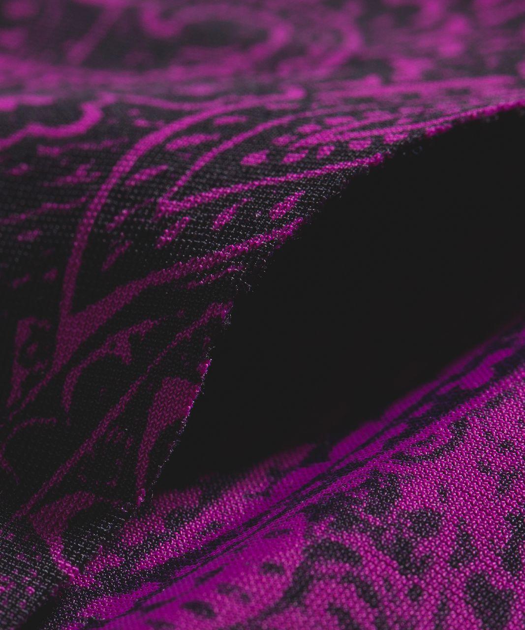 Lululemon Namastay Put Hipster - Mini Antique Paisley Deep Fuschia Black
