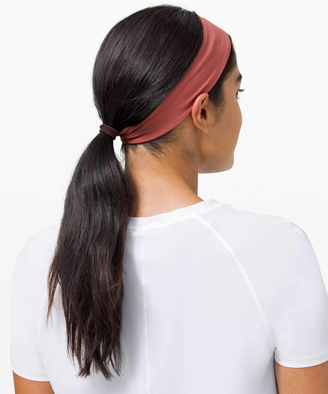 Lululemon Fly Away Tamer Headband II *Luxtreme - Soft Cranberry