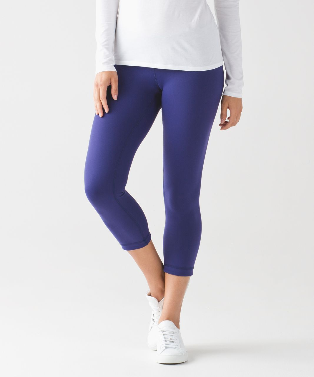 Lululemon Wunder Under Crop III (Reversible) - Emperor Blue / Sapphire Blue