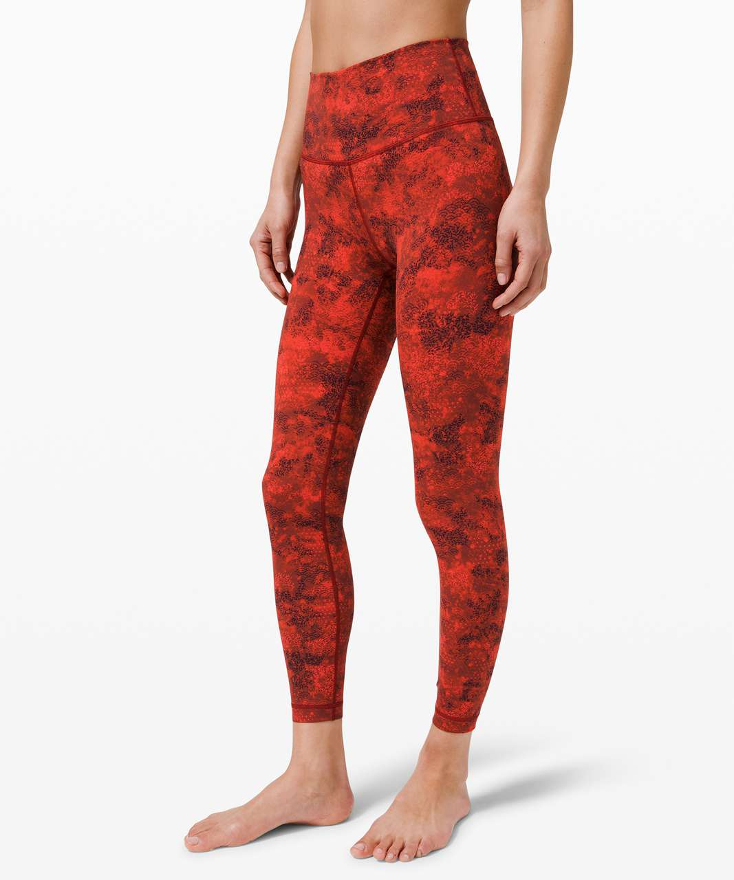 """Lululemon Wunder Under High-Rise Tight 25"""" Full-On Luxtreme *Lunar New Year - Intricate Oasis Love Red Multi"""