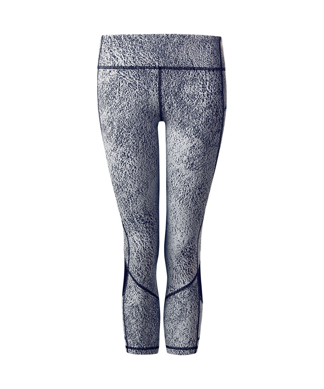 Lululemon Pace Rival Crop - Power Luxtreme Spray Jacquard White Black / Black