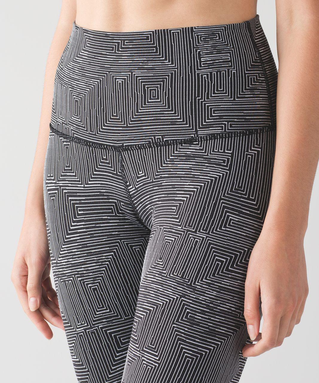 Lululemon Wunder Under Pant (Hi-Rise) - Maze Jacquard White Black