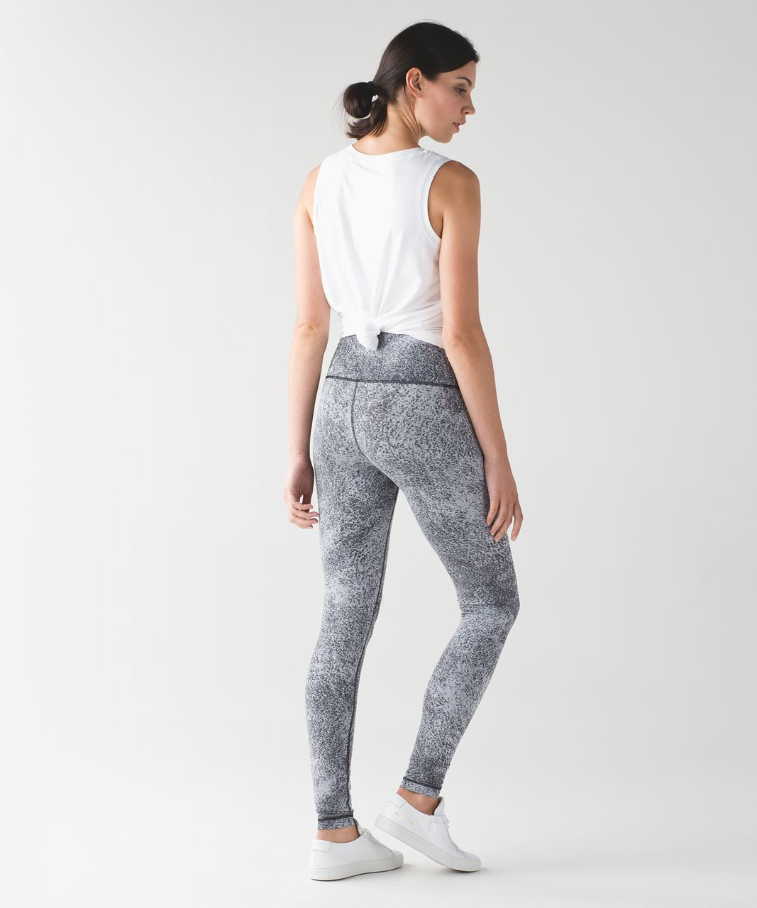 Lululemon Wunder Under Pant (Hi-Rise) - Luon Spray Jacquard White Black