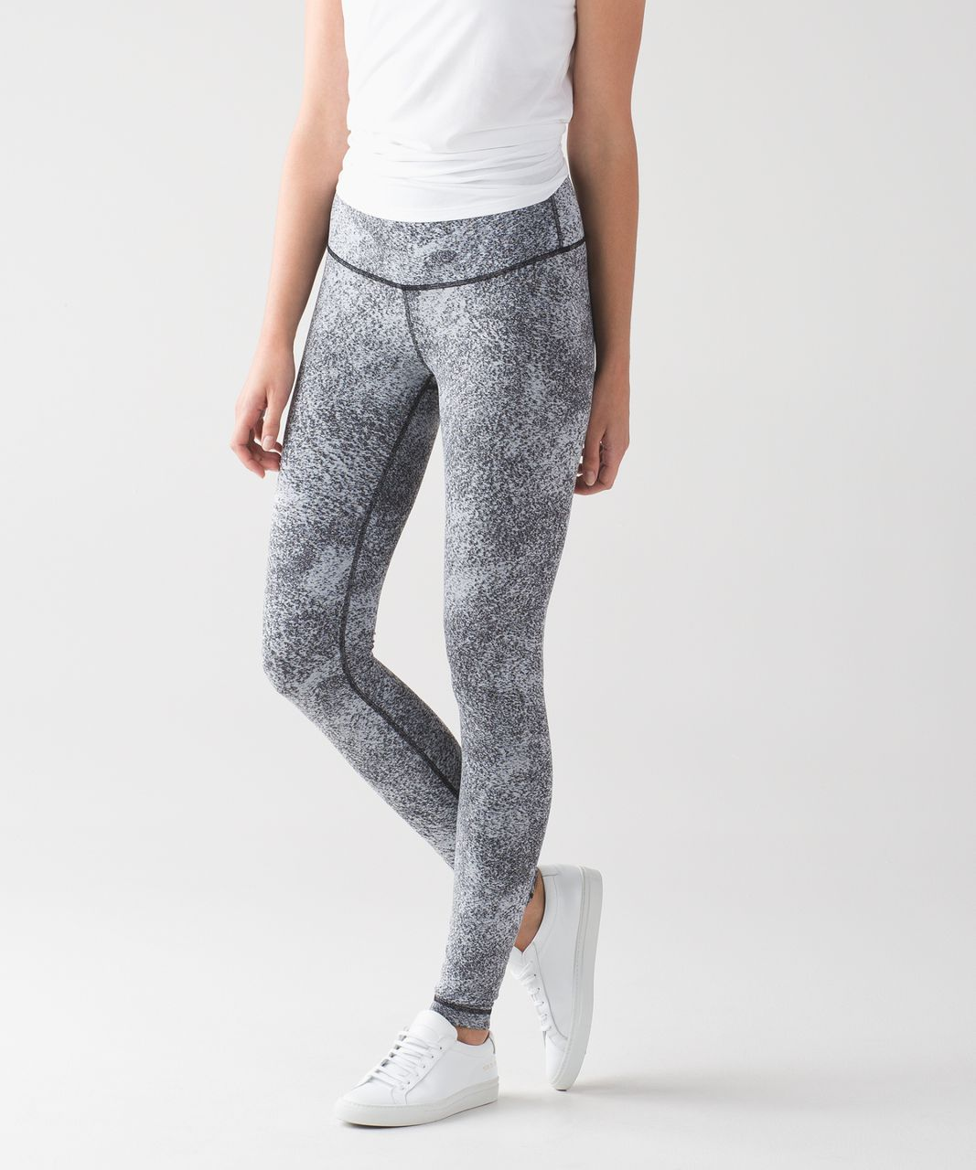 a5a0c83626b5 Lululemon Wunder Under Pant (Hi-Rise) - Luon Spray Jacquard White Black -  lulu fanatics