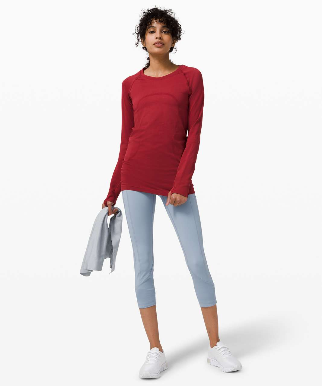 Lululemon Swiftly Tech Long Sleeve 2.0 - Prep Red / Prep Red (First Release)