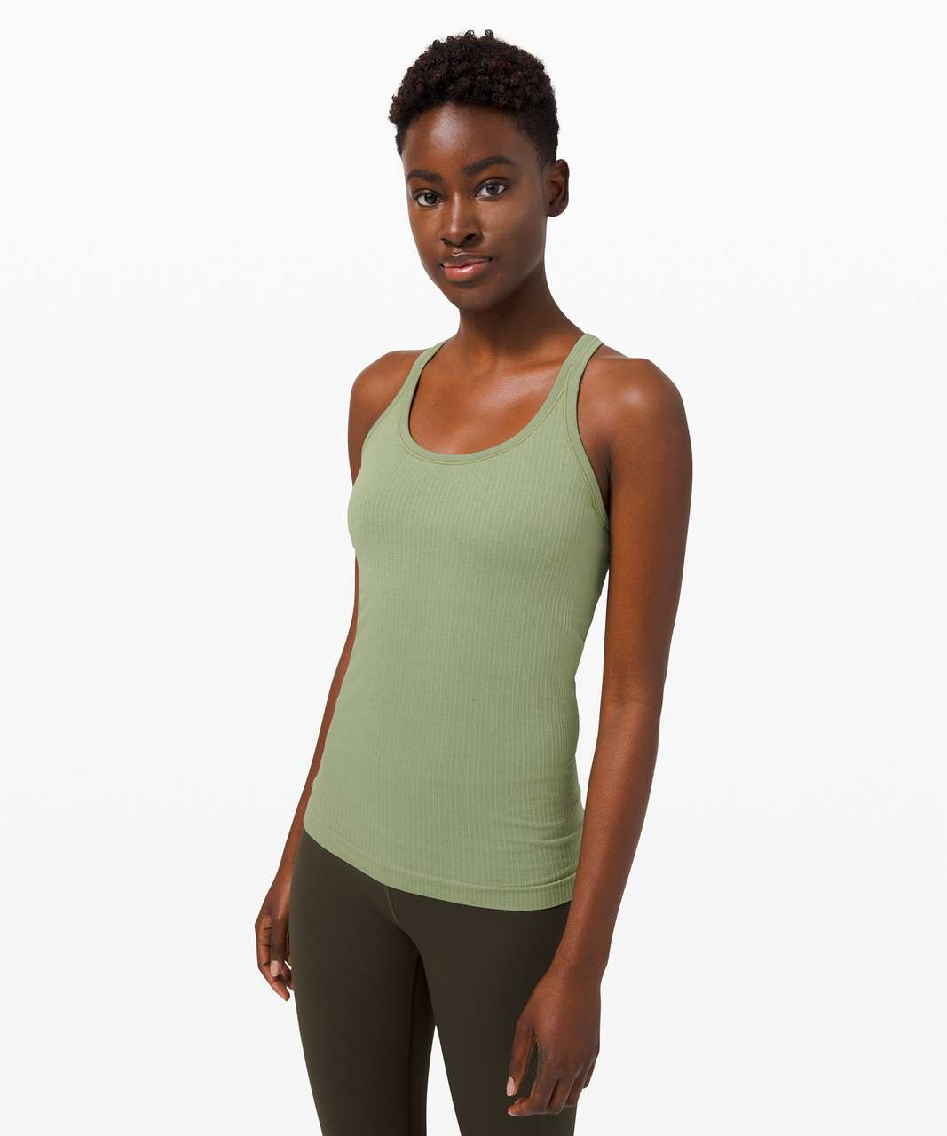 Lululemon Ebb To Street Tank *Light Support For B/C Cup - Willow Green