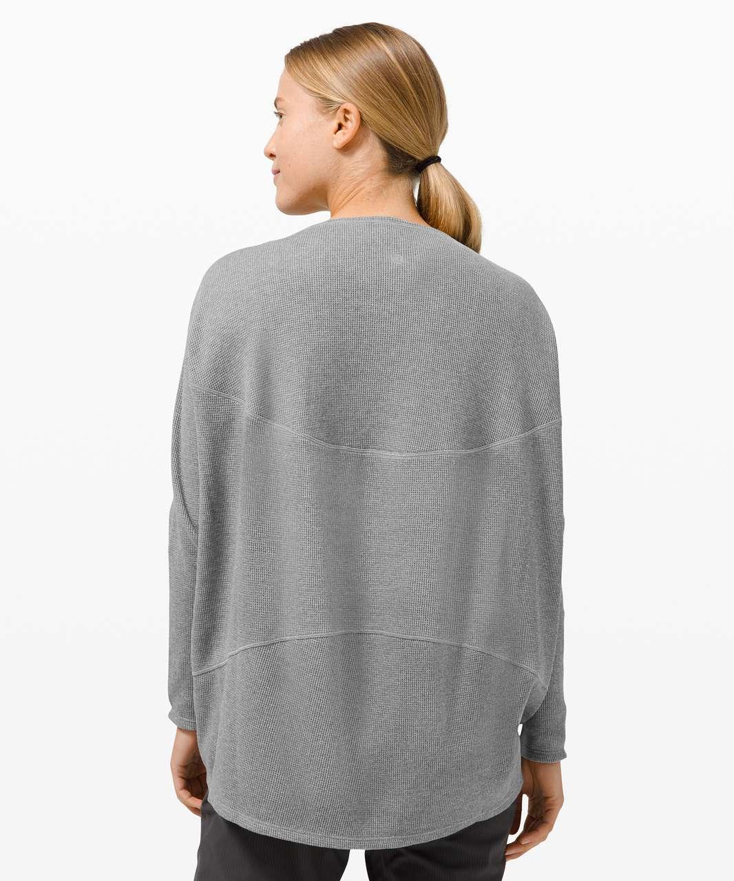 Lululemon Back In Action Long Sleeve *Waffle - Heathered Core Medium Grey