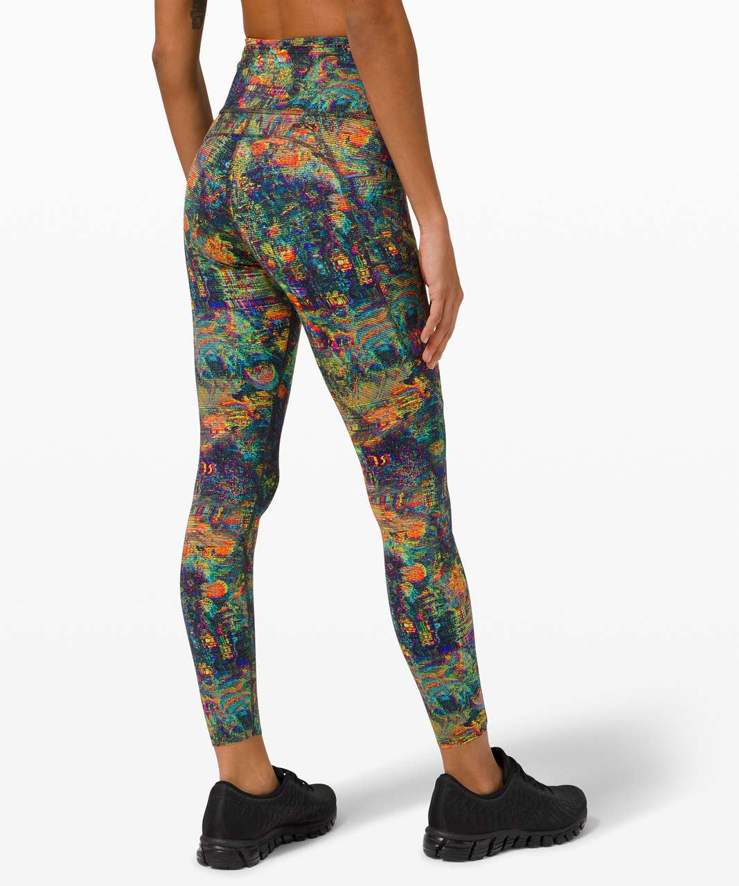 """Lululemon Fast and Free Tight 25"""" *Non-Reflective Nulux - Glitch Tapestry Starlight Multi"""