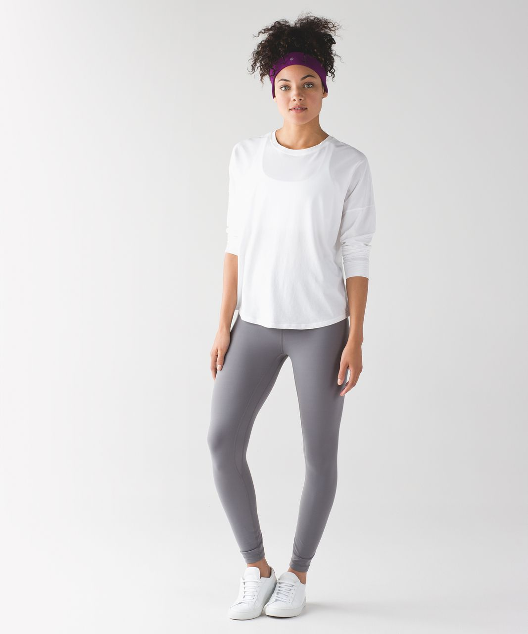Lululemon Fly Away Tamer Headband II - Chilled Grape