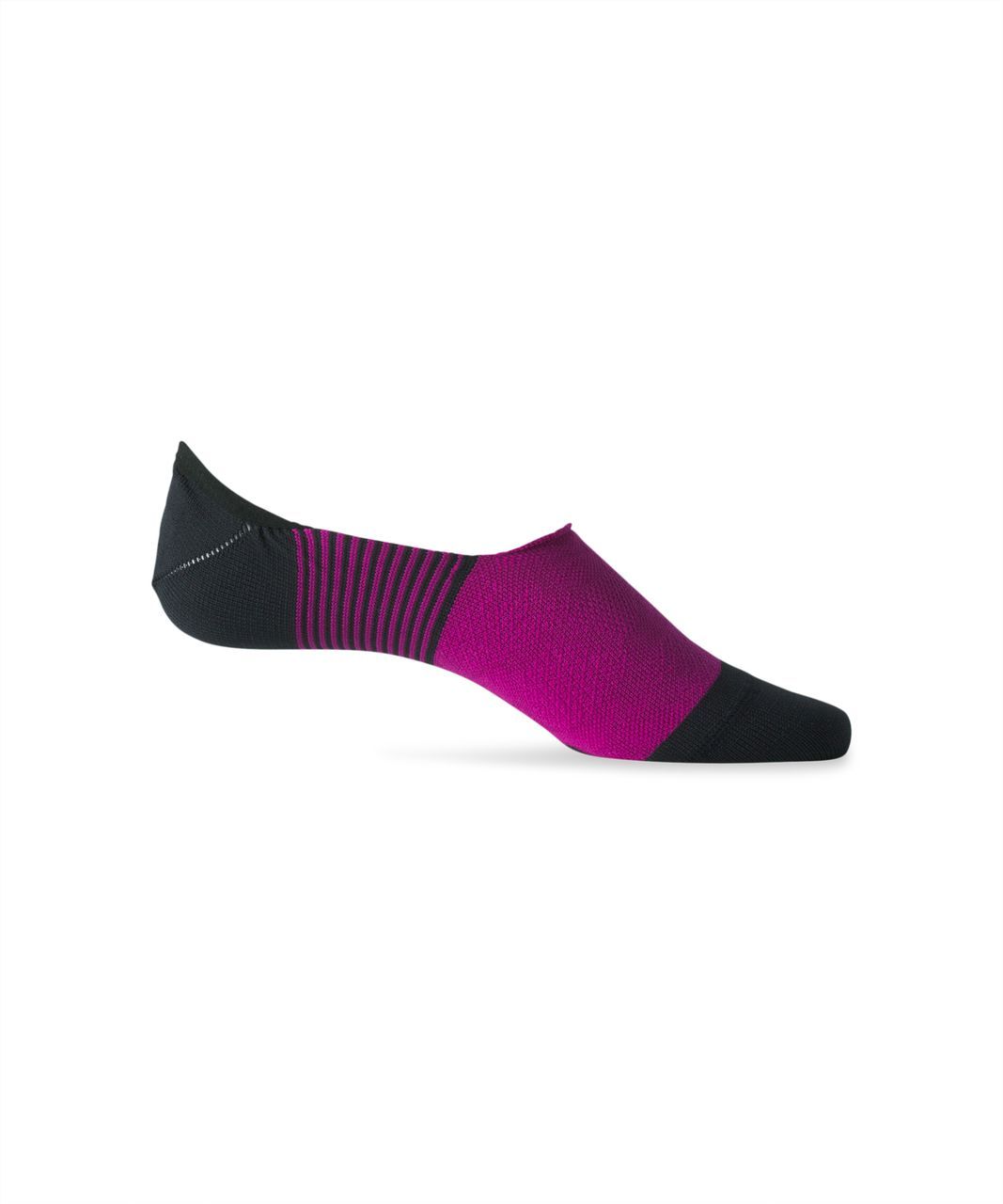 Lululemon Secret Sock - Deep Fuschia / Black / Ripened Raspberry