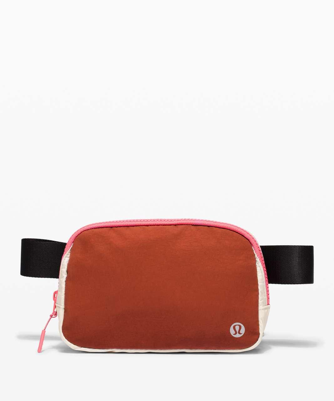 Lululemon Everywhere Belt Bag *1L - Dark Terracotta / White Opal