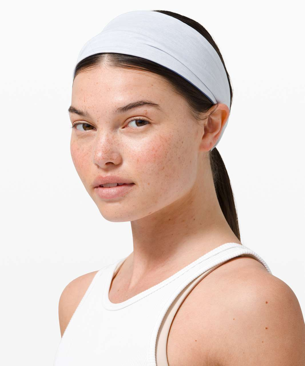 Lululemon Fringe Fighter Headband - Water Drop / White