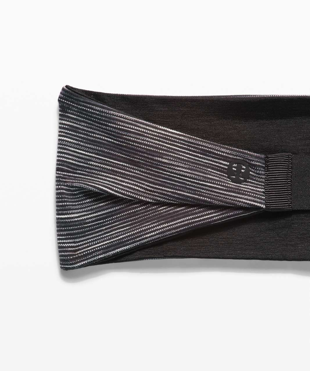 Lululemon Fringe Fighter Headband - Wee Are From Space Dark Carbon Ice Grey / Black