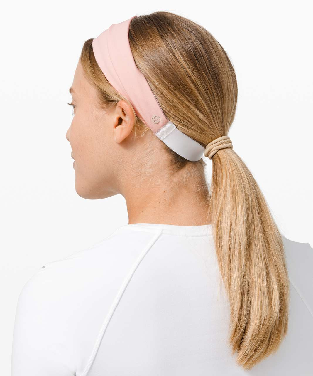 Lululemon Fringe Fighter Headband - Pink Mist / White