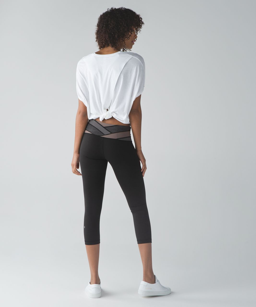 Lululemon Wunder Under Crop III - Black / Wee Are From Space Cool Cocoa Soot Light / Cool Cocoa