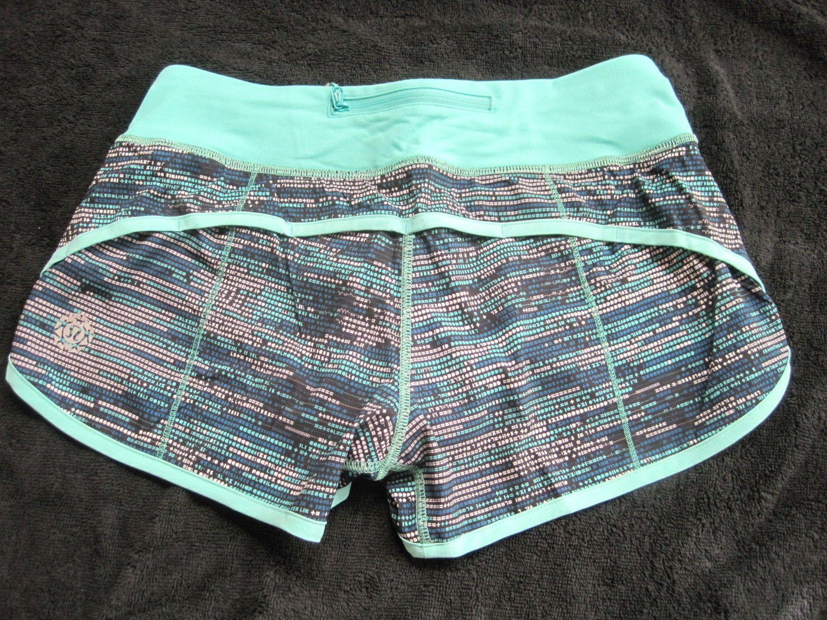 Lululemon Speed Short - 2016 Seawheeze - ASCII Bali Breeze Tofino Teal / Bali Breeze